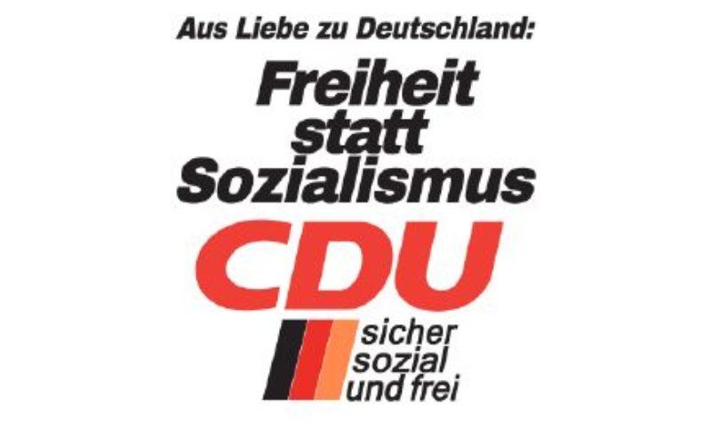 """""""Freiheit statt Sozialismus"""" — CDU Mannheim geht mit Retro-Plakat in den Schlussspurt zur Europa- und Kommunalwahl"""
